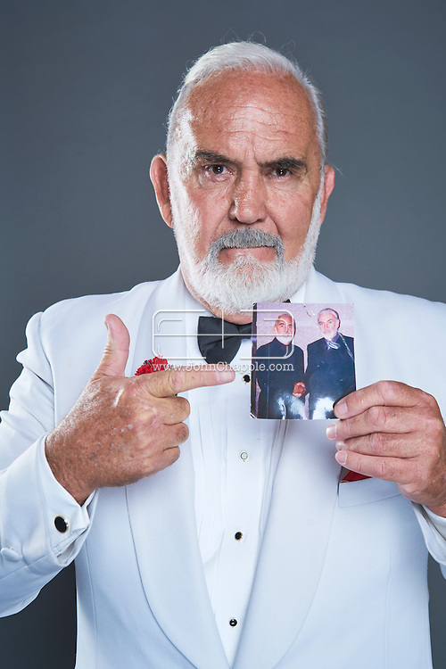 February 22, 2016. Las Vegas, Nevada.  The 22nd Reel Awards and Tribute Artist Convention in Las Vegas. Celebrity lookalikes from all over the world gathered at the Golden Nugget Hotel for the annual event. Pictured is  Sean Connery lookalike, John Allen who gas worked with the real Bond star.<br /> Copyright John Chapple / www.JohnChapple.com /