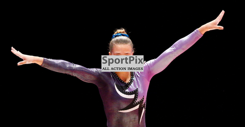 2015 Artistic Gymnastics World Championships being held in Glasgow from 23rd October to 1st November 2015...Anna Geidt (Kazakhstan) competing in the Balance Beam competition...(c) STEPHEN LAWSON | SportPix.org.uk