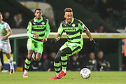 Forest Green Rovers Keanu Marsh-Brown(7) on the ball during the EFL Trophy 3rd round match between Yeovil Town and Forest Green Rovers at Huish Park, Yeovil, England on 9 January 2018. Photo by Shane Healey.
