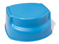 small blue plastic step stool
