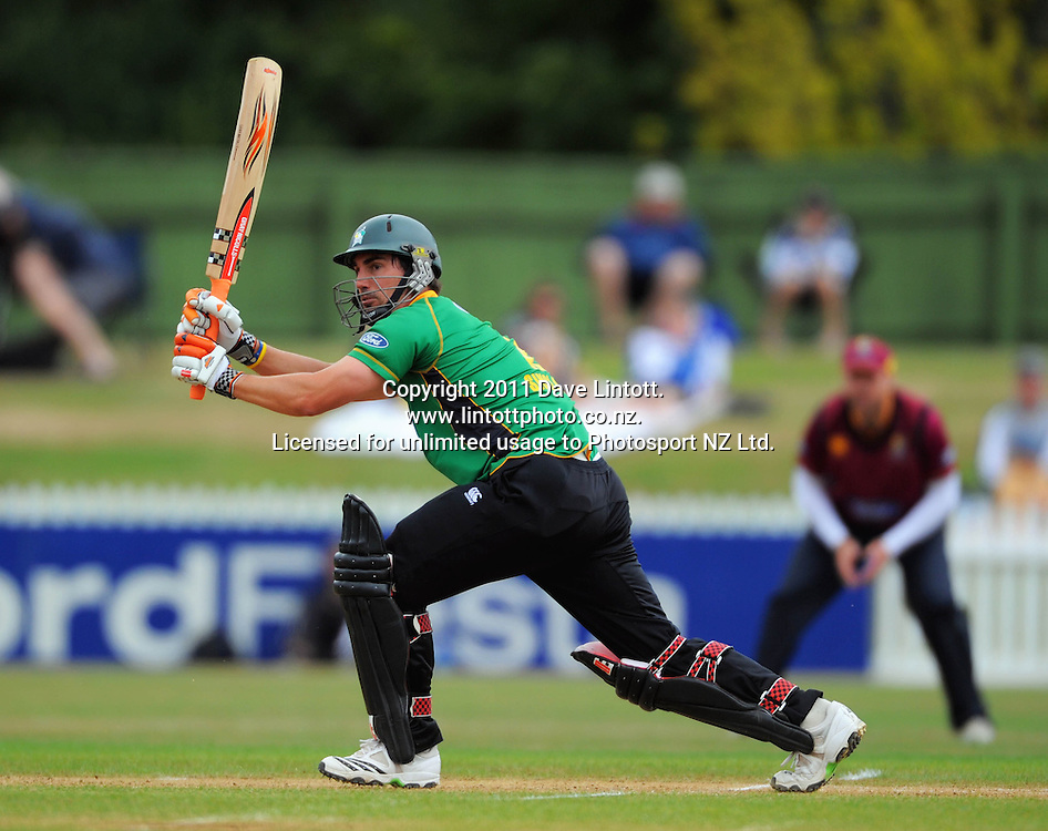 Stags batsman Mathew Sinclair. One-day cricket - Central Stags v Northern Knights at Fitzherbert Park, Palmerston North, New Zealand on Wednesday, 12 January 2011. Photo: Dave Lintott / photosport.co.nz