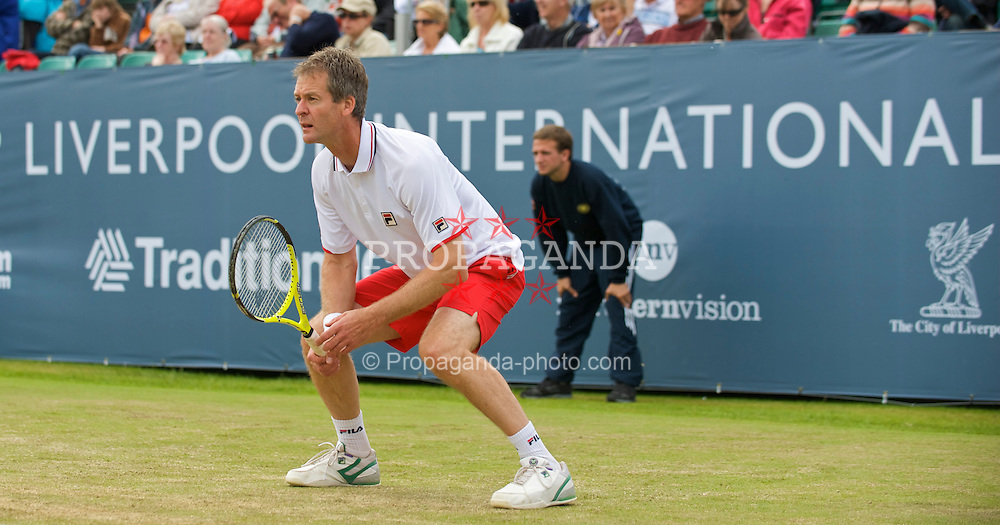 LIVERPOOL, ENGLAND - Sunday, June 21, 2009: Anders Jarryd (SWE) during Day Five of the Tradition ICAP Liverpool International Tennis Tournament 2009 at Calderstones Park. (Pic by David Rawcliffe/Propaganda)