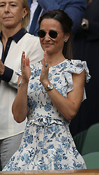 July 13, 2019 - London, England - LONDON, ENGLAND - JULY 13:  Pippa Middleton  attend the Women's Singles Final of the Wimbledon Tennis Championships at All England Lawn Tennis and Croquet Club on July 13, 2019 in London, England...People:  Pippa Middleton. (Credit Image: © SMG via ZUMA Wire)