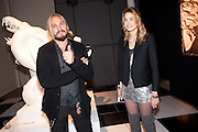 MARCO PEREGO; ISABELLE BSCHER , La Mania launch party. The Royal Academy. Burlington St. London. 16 February 2012.