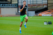 Forest Green Rovers Aaron Collins(10) warming up  during the EFL Sky Bet League 2 match between Port Vale and Forest Green Rovers at Vale Park, Burslem, England on 20 August 2019.