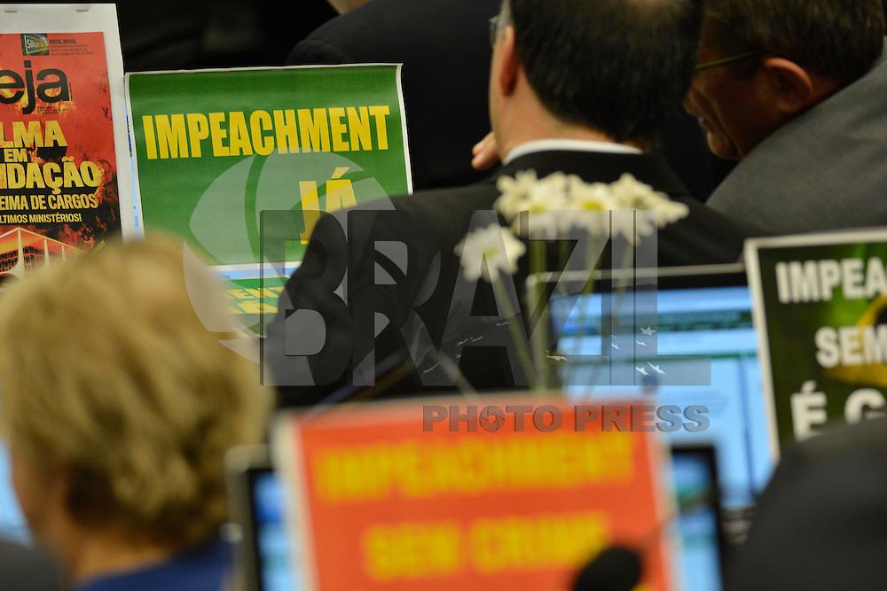 BRASILIA, DF – 11.04.2016 – COMISSÃO-IMPEACHMENT –  O presidente da Comissão Especial do Impeachment, Rogério Rosso (PSD-DF)durante reunião da Comissão do Impeachment na Câmara dos Deputados em Brasília, nesta segunda-feira, 11. (Foto: Ricardo Botelho/Brazil Photo Press)
