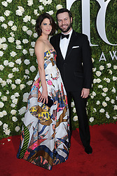 June 11, 2017 - New York, NY, USA - June 11, 2017  New York City..Cobie Smulders and Taran Killam attending the 71st Annual Tony Awards arrivals on June 11, 2017 in New York City. (Credit Image: © Kristin Callahan/Ace Pictures via ZUMA Press)