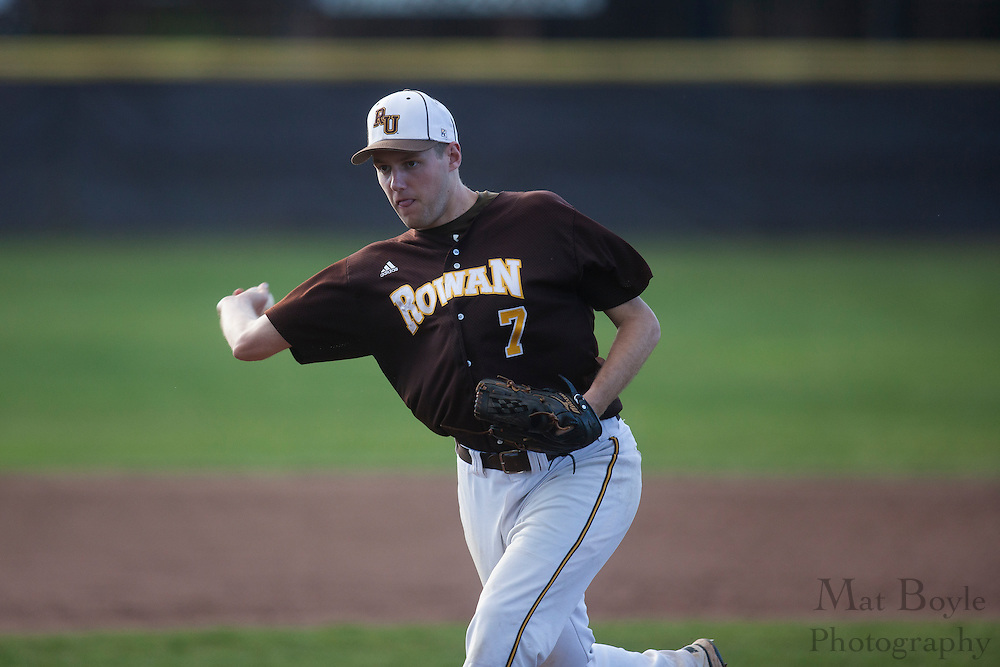 Rowan University Senior Right Handed Pitcher Ryan Peterson (7); Rowan University Baseball defeats York College of Pennsylvania 4-3 in Glassboro, NJ on Tuesday March 20, 2012. (photo / Mat Boyle)