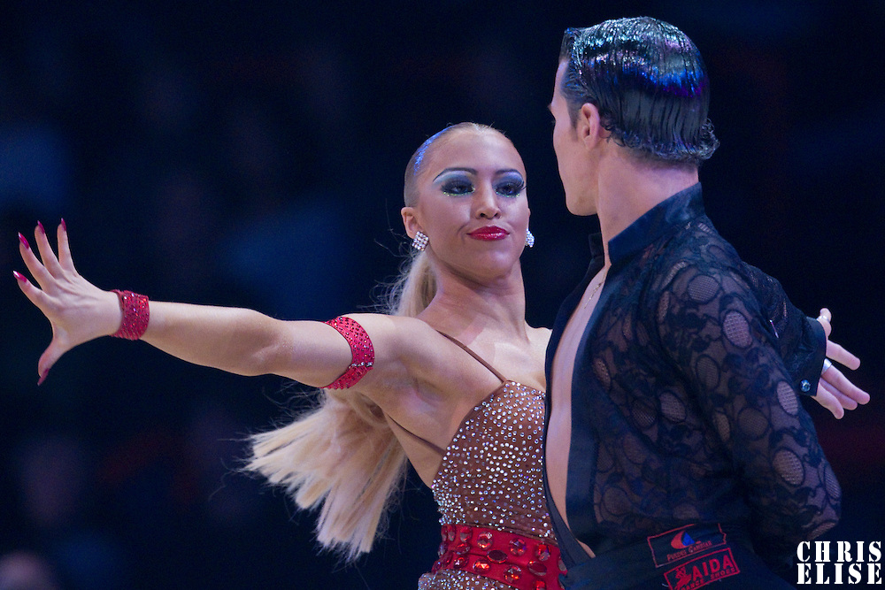23 January 2010: Irene Martin performs with Gorka Marquez during the Masters Bercy Latin and Ballroom (standard) Dancesport Championship 2010, at Palais Omnisports Paris Bercy, in Paris, France. .