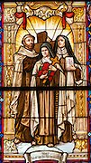 Therese with St. John of the Cross and St. Teresa of Avila, doctors of the church. (Sam Lucero photo)