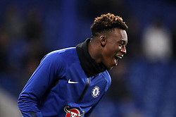Chelsea's Callum Hudson-Odoi during the warm up before the Carabao Cup Semi Final, second leg match at Stamford Bridge, London.