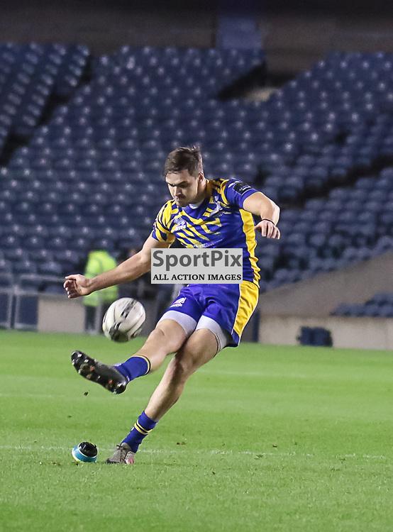 Zebre #10 Carlo Canna kicks Zebre's second penalty.  Edinburgh Rugby v Zebre,  28th October 2016