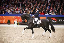 Maree Gerdine (NED) - Dream Boy<br /> KWPN Stallion Selection - 's Hertogenbosch 2014<br /> © Dirk Caremans