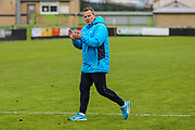 Forest Green Rovers manager, Mark Cooper claps the fans at the end of the match during the Vanarama National League match between Forest Green Rovers and Chester FC at the New Lawn, Forest Green, United Kingdom on 14 April 2017. Photo by Shane Healey.