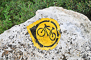 bicycle nature trail in a forest in Israel