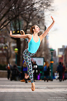 Union Square: Dance As Art the New York City Photography Project with dancer Mykaila Symes