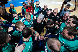Team Zorman during handball event named Rokometna simfonija organised as a game between Zorman's team and Zvizej's team when Uros Zorman and Luka Zvizej officially retire from their professional handball career, on October 24, 2019 in Arena Zlatorog, Celje, Slovenia. Photo by Grega Valancic/ Sportida