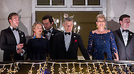 Oslo, 10-12-2016  <br /> <br /> King Harald and Queen Sonja, Crown Prince Haakon and Crown Princess Mette Marit of Norway  attend the Nobel Peace Prize Banquet at the Grand Hotel with Nobel Peace Prize winner President Juan Manuel Santos of Columbia.<br /> <br /> Torch Procession with President Juan Manuel Santos and his wife President Juan Manuel  and children.<br /> <br /> COPYRIGHT ROYALPORTRAITS EUROPE/ BERNARD RUEBSAMEN