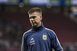 March 22, 2019 - Madrid, Madrid, Spain - Juan Marcos Foyth of Argentina during the Friendly football match between Argentina and Venezuela at Wanda Metropolitano Stadium in 22 March 2019, Madrid, Spain, preparatory for the Copa América Brazil 2019 to be played from June 14 to July 7. (Credit Image: © Patricio Realpe/NurPhoto via ZUMA Press)