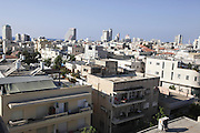 Elevated view of rooftops, Tel Aviv, Israel