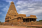 Majestic Temple of an old Temple in Tanjore (brihadishvara temple, a UNESCO World Heritage Site circa 12th century AD)