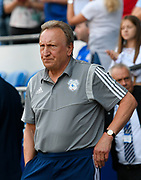 Cardiff City manager Neil Warnock during the EFL Sky Bet Championship match between Cardiff City and Middlesbrough at the Cardiff City Stadium, Cardiff, Wales on 21 September 2019.