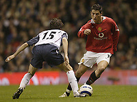 Photo: Aidan Ellis.<br /> Manchester United v West Ham United. The Barclays Premiership. 29/03/2006.<br /> Manchester's Cristiano Ronaldo beats West Ham's Yossi Benayoun