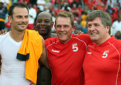 DURBAN, SOUTH AFRICA - NOVEMBER 16:  Neil Tovey 2nd from the right during the Liverpool  Legends vs Kaizer Chiefs Legends Match (Moses Mabhida Stadium) DURBAN, SOUTH AFRICA - NOVEMBER 16<br /> (Photo by Steve Haag)