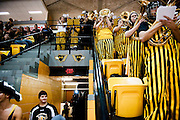 HOUGHTON, MI -DEC. 12, 2014: The Michigan Tech pep band performs during the game against Minnesota Duluth Friday, Dec. 12, 2014 at MacInnes Student Ice Arena in Houghton, MI. Lauren Justice for The New York Times