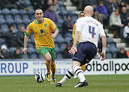 Preston - Saturday February 14th, 2009: Richard Chaplow of Preston North End and Lee Croft of Norwich City during the Coca Cola Championship match at Deepdale, Preston. (Pic by Michael Sedgwick/Focus Images)
