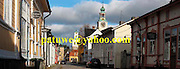 panorama Finland Rauma Unesco old town Townhall and Holy Ghost church