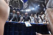 Campionato italiano Legabasket 2017/18<br /> 16° Giornata Ritorno  <br /> Bologna 21/01/2018 <br /> Segafredo Virtus Bologna - Dolomiti Energia Trentino 82-75 <br /> nella foto Buscaglia Maurizio  time out <br /> Foto GiulioCiamillo/ Ciamillo-Castoria