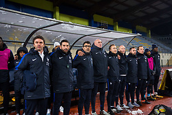 France coaches during football match between Slovenia and France in Qualifying round for European Under-21 Championship 2019, on November 13, 2017 in Sportni park, Domzale, Slovenia.  Photo by Ziga Zupan / Sportida