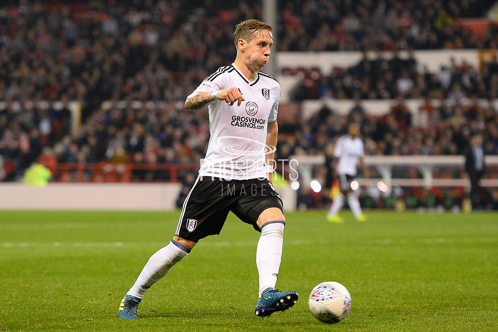 Fulham midfielder Stefan Johansen (8) during the EFL Sky Bet Championship match between Nottingham Forest and Fulham at the City Ground, Nottingham, England on 26 September 2017. Photo by Jon Hobley.