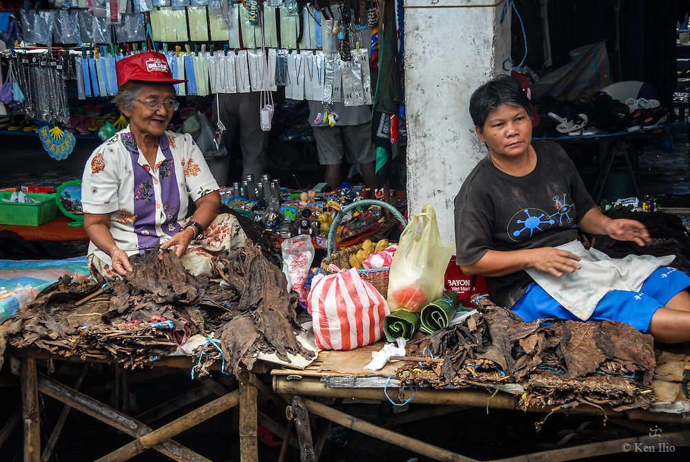 Tobacconists in the Market, Malinao, Philippines