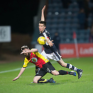 Dundee&rsquo;s Cammy Kerr and Partick Thistle's Steven Lawless - Dundee v Partick Thistle in the Ladbrokes Scottish Premiership at Dens Park, Dundee.Photo: David Young<br /> <br />  - &copy; David Young - www.davidyoungphoto.co.uk - email: davidyoungphoto@gmail.com