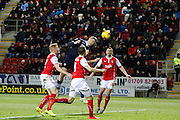 Matt Mills scores at 4-2 during the Sky Bet Championship match between Rotherham United and Bolton Wanderers at the New York Stadium, Rotherham, England on 27 January 2015. Photo by Richard Greenfield.