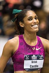 USATF Indoor Track & Field Championships: womens 60 hurdles, Kristi Castlin, Nike,
