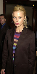 Model LAURA BAILEY at a party in London on 25th September 2000.<br /> OHH 143