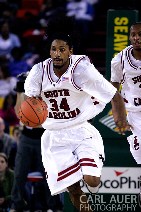 26 November 2005: USC Gamecock junior forward, Renaldo Balkman, in the South Carolina Gamecock overtime loss, 89-92 to the Golden Eagles of Marquette in the final game of the Great Alaska Shootout in Anchorage, Alaska