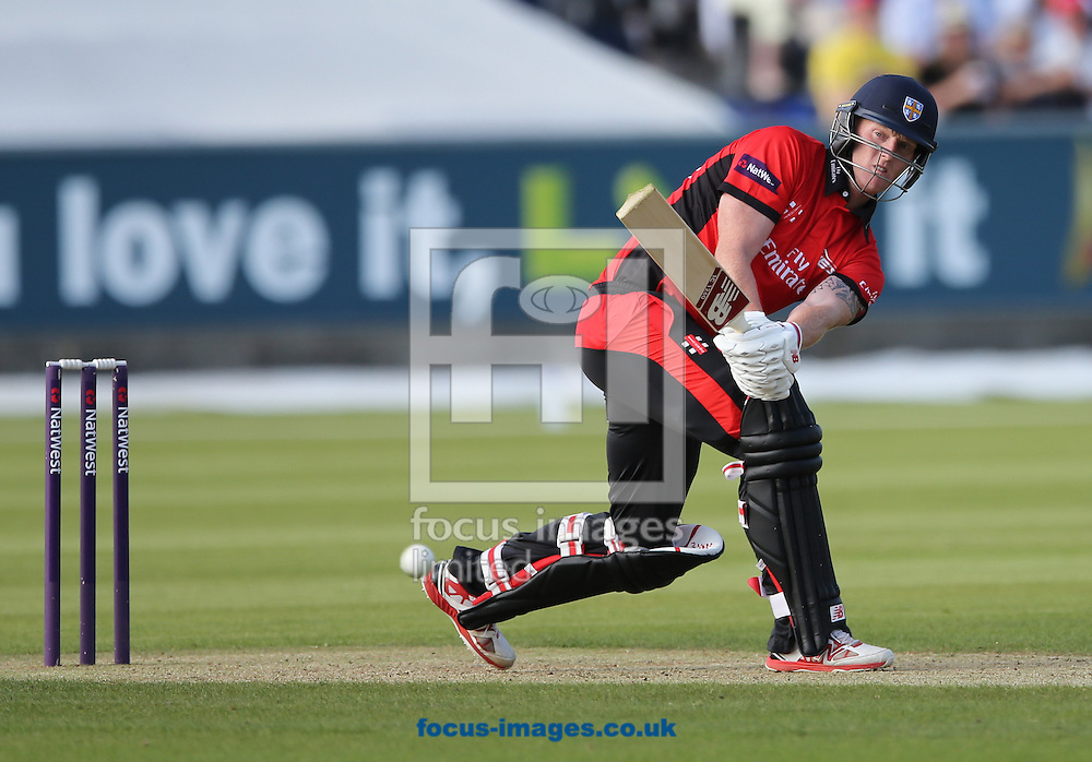 Ben Stokes of Durham Jets batting during the Natwest T20 Blast match at Emirates Durham ICG, Chester-le-Street<br /> Picture by Simon Moore/Focus Images Ltd 07807 671782<br /> 20/06/2014