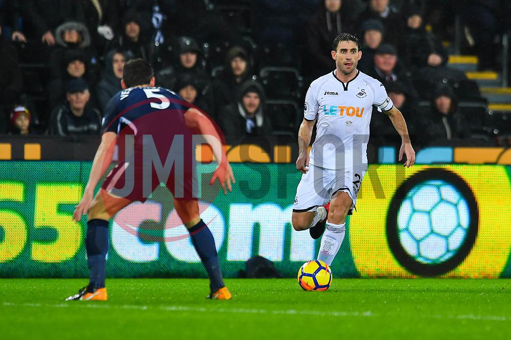 Angel Rangel of Swansea City in action - Mandatory by-line: Craig Thomas/JMP - 02/01/2018 - FOOTBALL - Liberty Stadium - Swansea, England - Swansea City v Tottenham Hotspur - Premier League