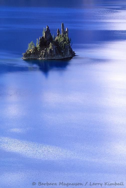 Phantom Ship Island in Crater Lake; Crater Lake National Park, Oregon