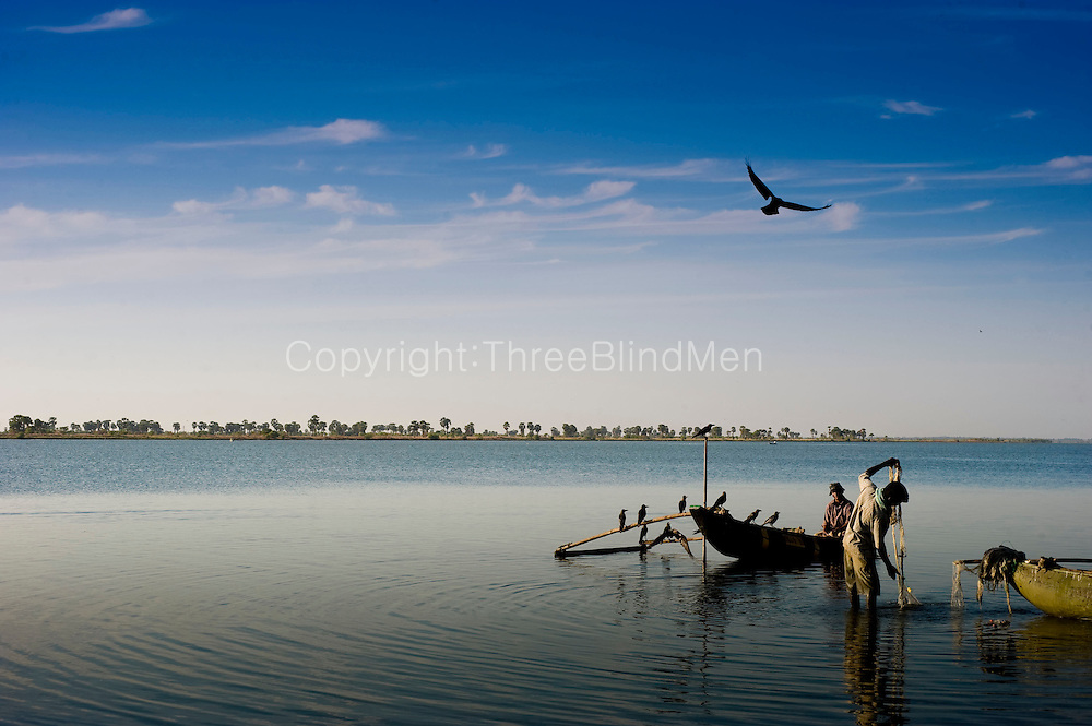 Early morning, fishing on Batticaloa lagoon..East Coast.
