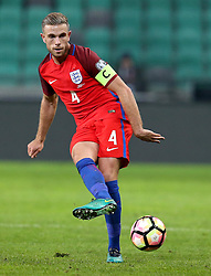 Jordan Henderson of England passes the ball - Mandatory by-line: Robbie Stephenson/JMP - 11/10/2016 - FOOTBALL - RSC Stozice - Ljubljana, England - Slovenia v England - World Cup European Qualifier