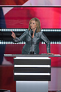 U.S Congresswoman Marsha Blackburn addresses delegates on the final day of the Republican National Convention July 21, 2016 in Cleveland, Ohio.