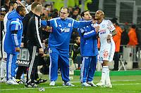 Marcelo BIELSA / Colere Andre AYEW - 15.03.2015 - Marseille / Lyon - 29e journee Ligue 1<br /> Photo : Gaston Petrelli / Icon Sport