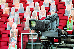 Sky Sports cameras amongst the crowdies - Rogan/JMP - 28/08/2020 - Ashton Gate Stadium - Bristol, England - Bristol City v Sheffield Wednesday - Sky Bet Championship.