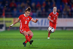 CARDIFF, WALES - Friday, November 24, 2017: Wales' Angharad James during the FIFA Women's World Cup 2019 Qualifying Round Group 1 match between Wales and Kazakhstan at the Cardiff City Stadium. (Pic by David Rawcliffe/Propaganda)