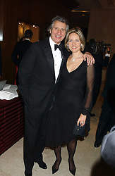 ARNAUD & CARLA BAMBERGER at the Cartier Racing Awards held at the Four Seasons Hotel, Hamilton Place, London W1 on 16th November 2005.<br /><br />NON EXCLUSIVE - WORLD RIGHTS